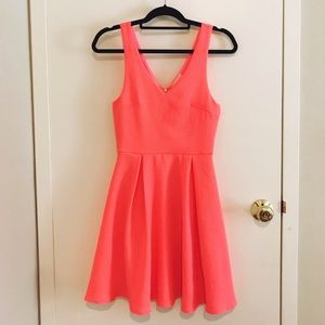 Coral highlighter dress